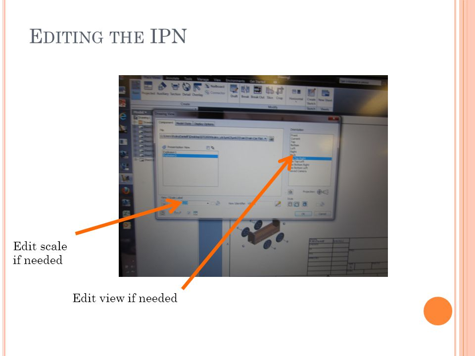 E DITING THE IPN Edit scale if needed Edit view if needed