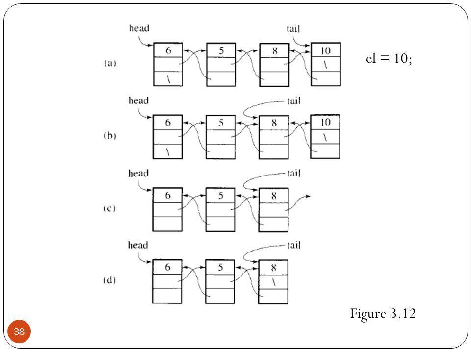 38 Figure 3.12 el = 10;