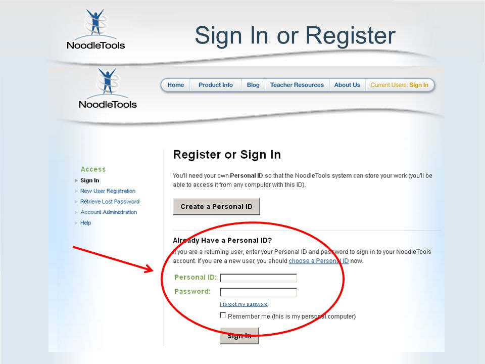Sign In or Register