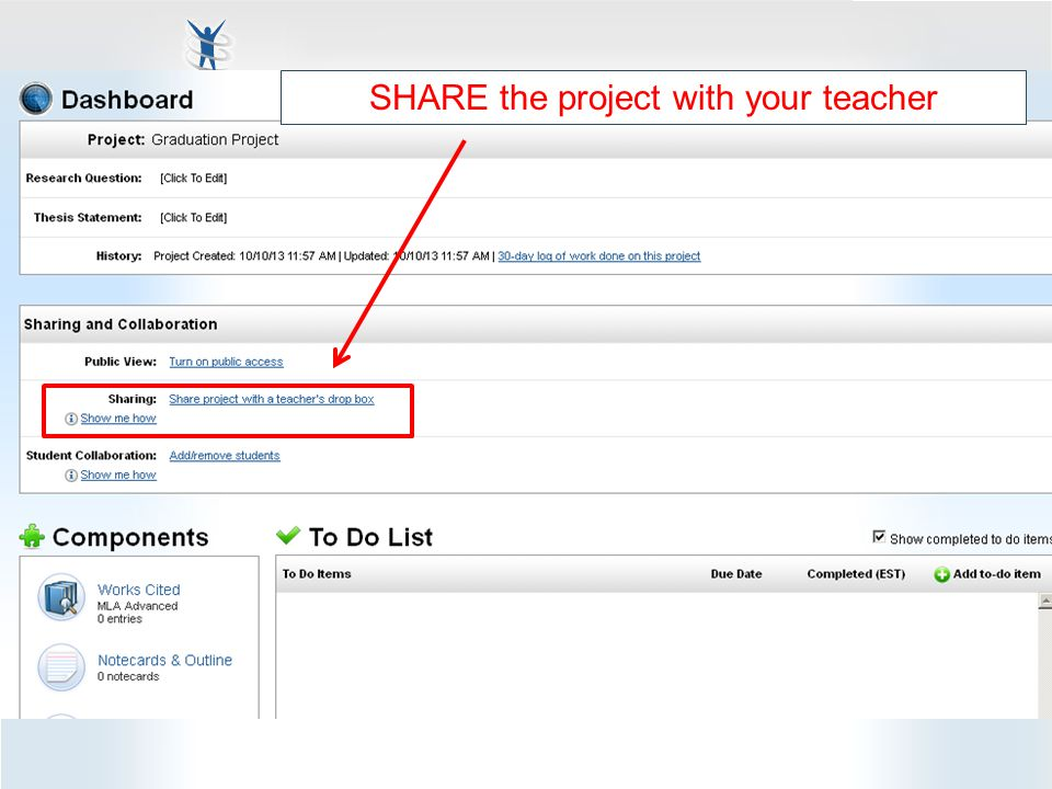 NoodleTools & Graduation Project 2014 Searching Databases using INFOTRAC