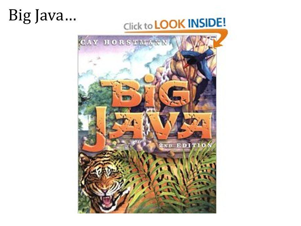 Big Java…