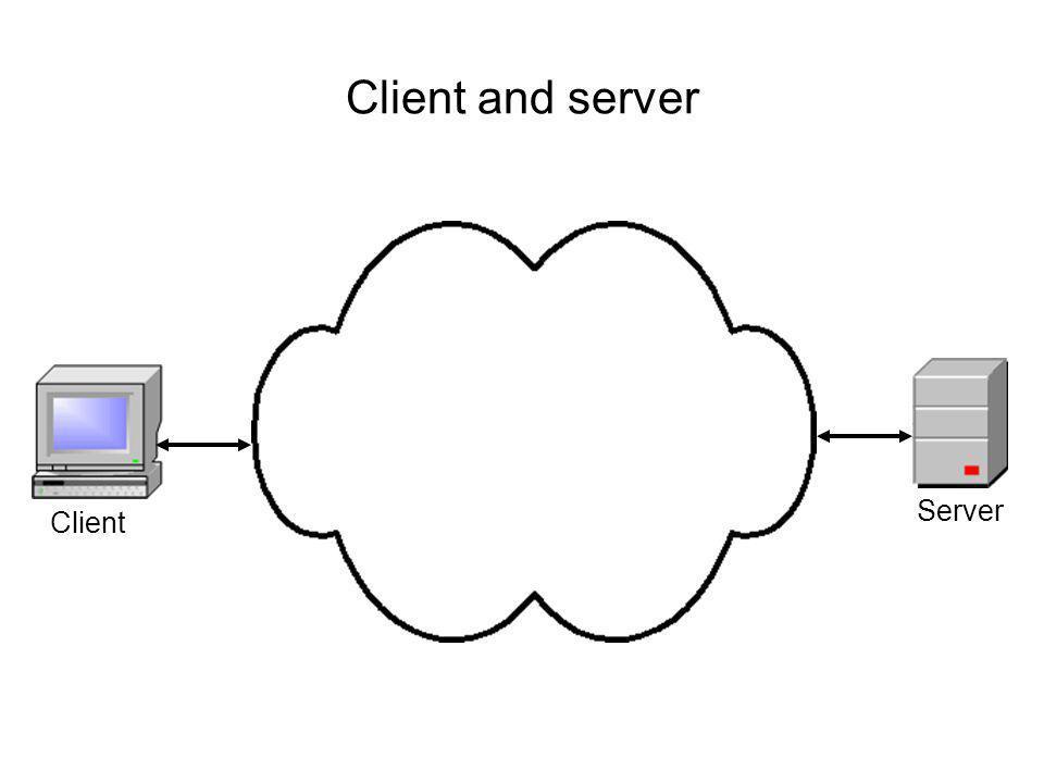Client and server Client Server