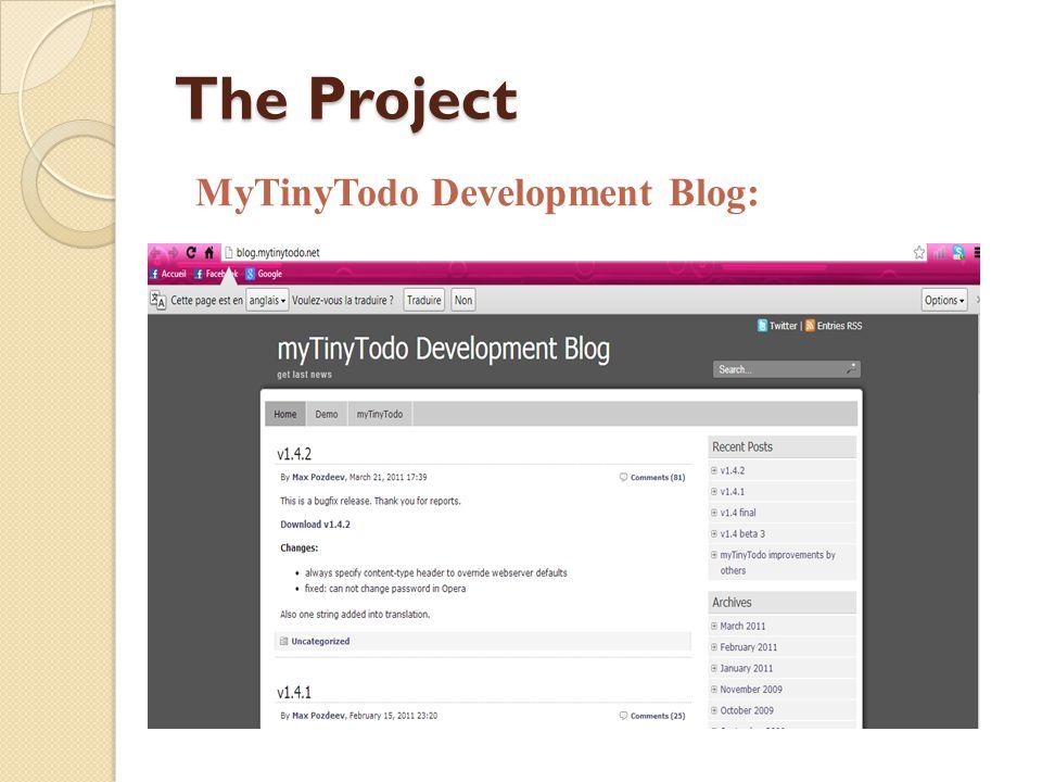 The Project MyTinyTodo Development Blog: