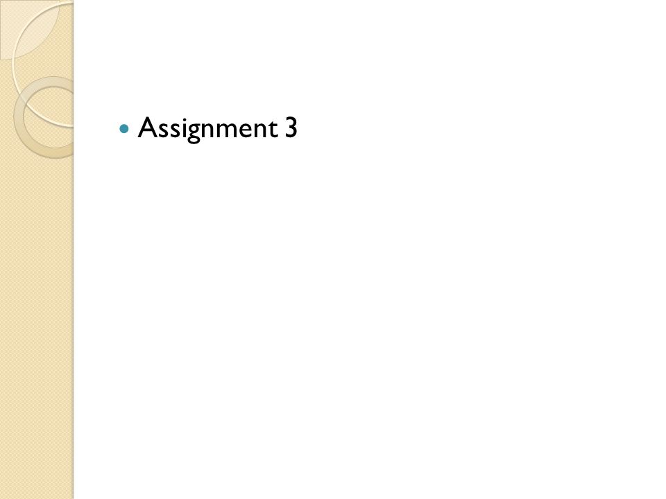 Assignment 3