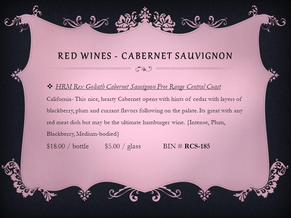 RED WINES - ZINFANDEL Ridge Vineyards Zinfandel Paso Robles Paso Robles, Central Coast, CA- Inky ruby.