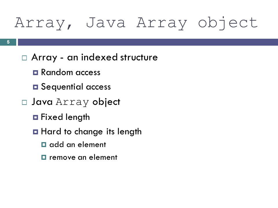 List Interface part of JAVA API java.util List operations: Obtain an element at a specified position Replace an element at a specified position Find a specified target value Add an element at either end Remove an element from either end Insert or remove an element at any position Traverse the list structure without managing a subscript 6