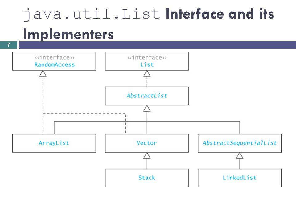 ListIterator Interface: Methods 118