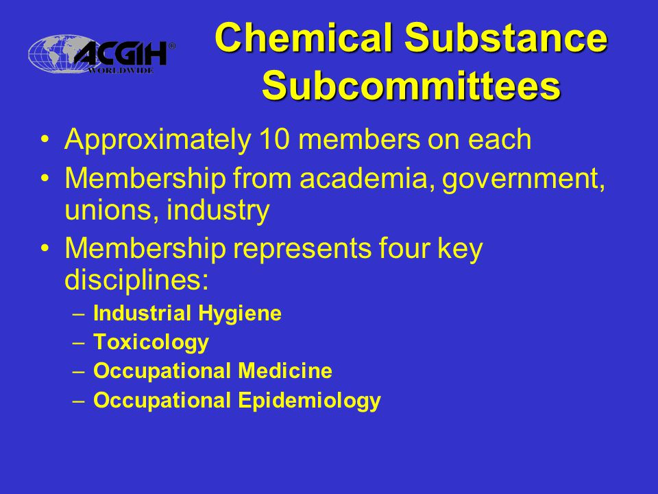 Other Subcommittees Chemical Selection –Recommendations to HOC, D&I, MISCO Membership –Recruitment, screening, recommendations Notations –Definitions, new proposals Communications –Explaining our decisions