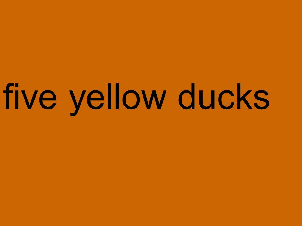five yellow ducks