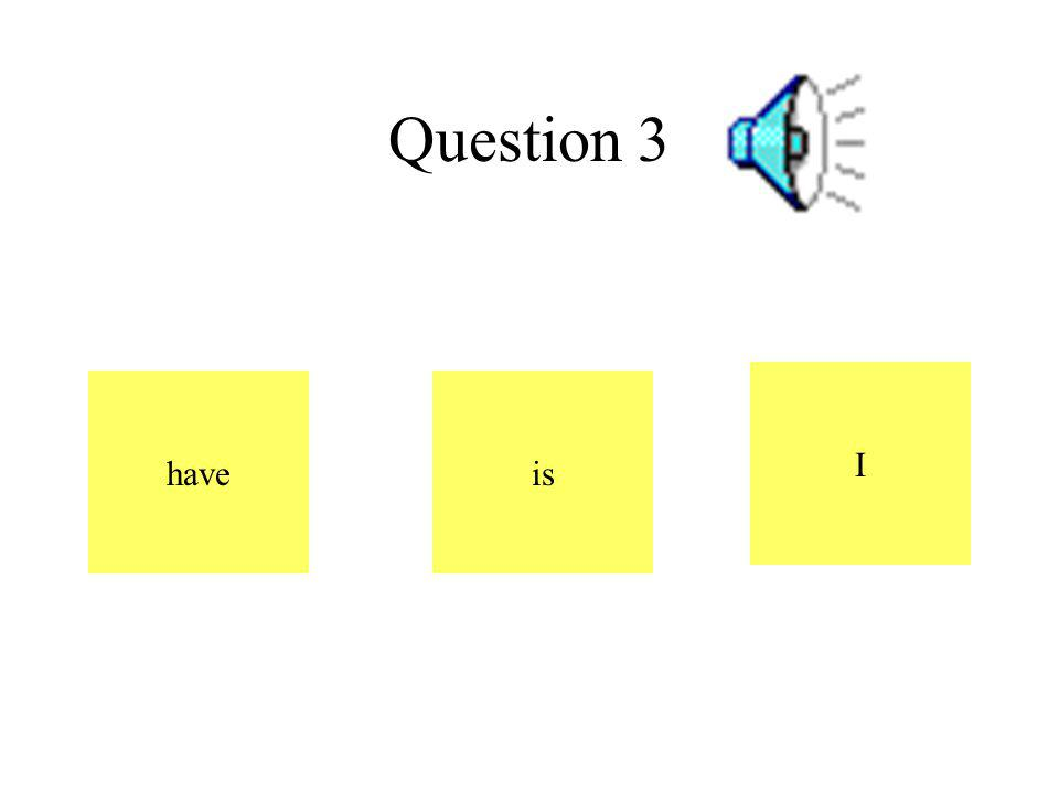 Question 3 have I is
