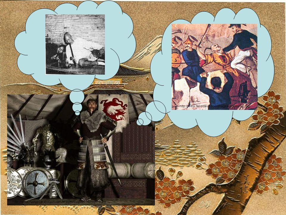 http://www.rockpapershotgun.com/images/august07/Shogun3.jpg http://academic.brooklyn.cuny.edu/co re9/phalsall/images/opium.gif http://www.tailordave.com/images/Stories/5/2.jpg I remember the Chinese losing to the British.