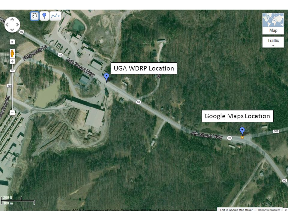 Google Maps Location UGA WDRP Location