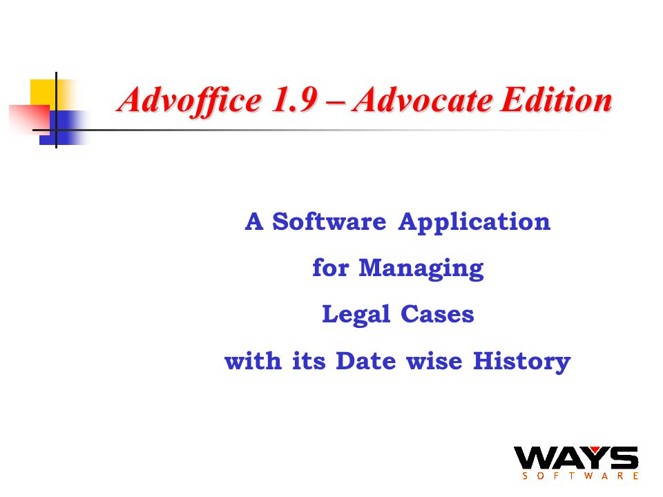 Advoffice 1.9 – Advocate Edition A Software Application for Managing Legal Cases with its Date wise History