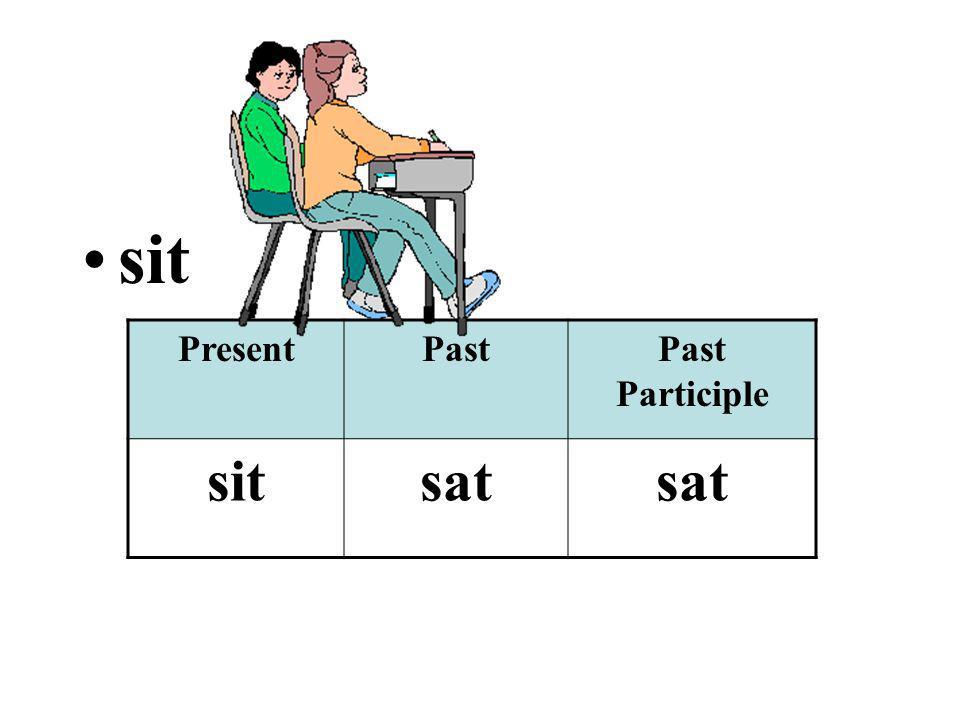 sit PresentPastPast Participle sitsat