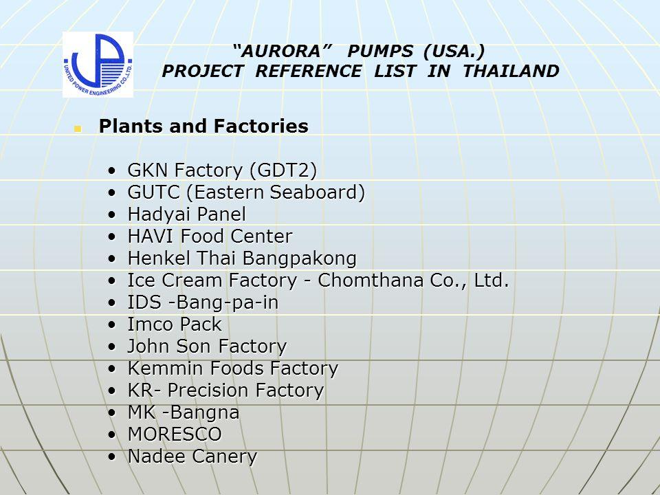 Plants and Factories Plants and Factories GKN Factory (GDT2)GKN Factory (GDT2) GUTC (Eastern Seaboard)GUTC (Eastern Seaboard) Hadyai PanelHadyai Panel HAVI Food CenterHAVI Food Center Henkel Thai BangpakongHenkel Thai Bangpakong Ice Cream Factory - Chomthana Co., Ltd.Ice Cream Factory - Chomthana Co., Ltd.
