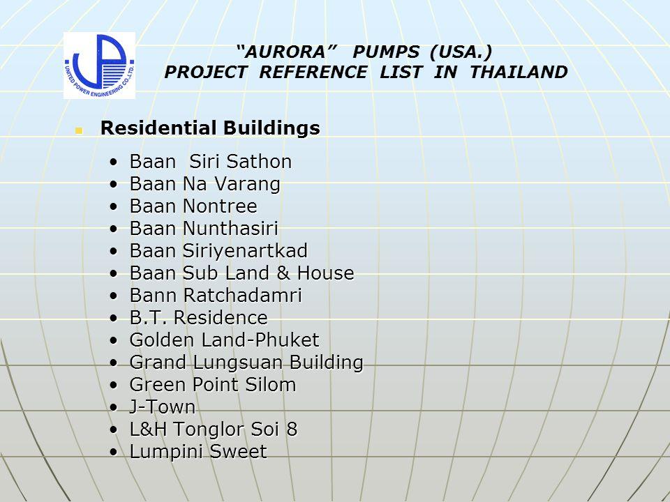 Residential Buildings Residential Buildings Baan Siri SathonBaan Siri Sathon Baan Na VarangBaan Na Varang Baan NontreeBaan Nontree Baan NunthasiriBaan