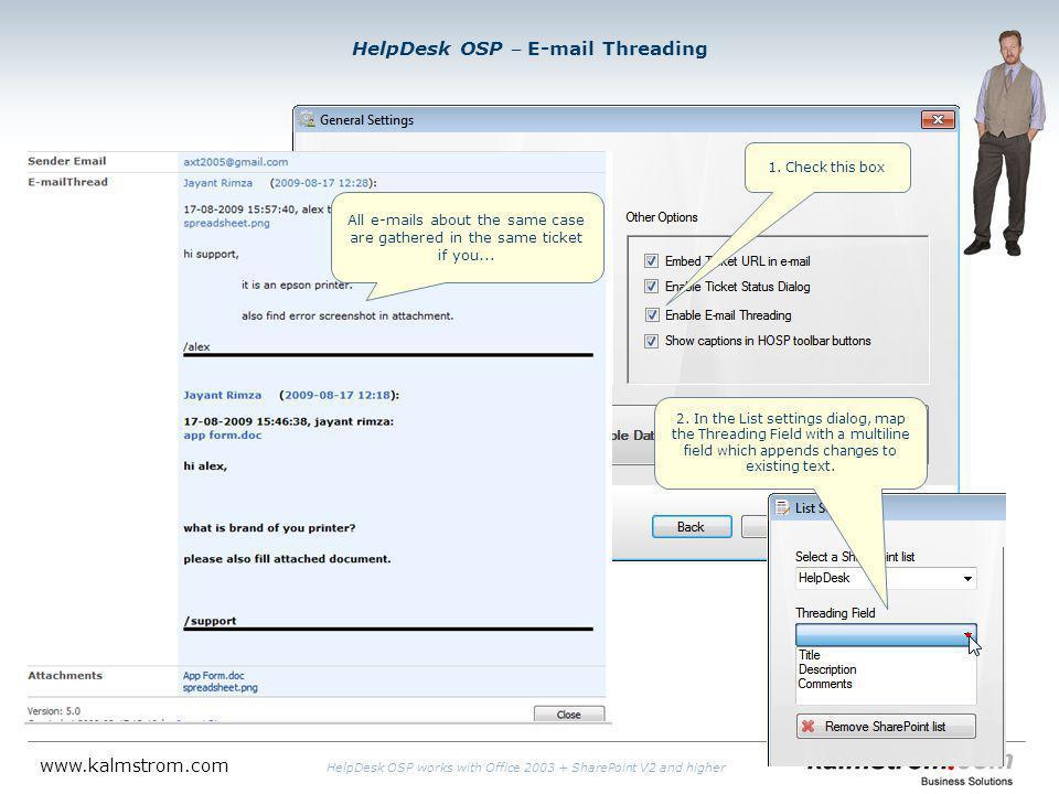 HelpDesk OSP E-mail Threading 1.