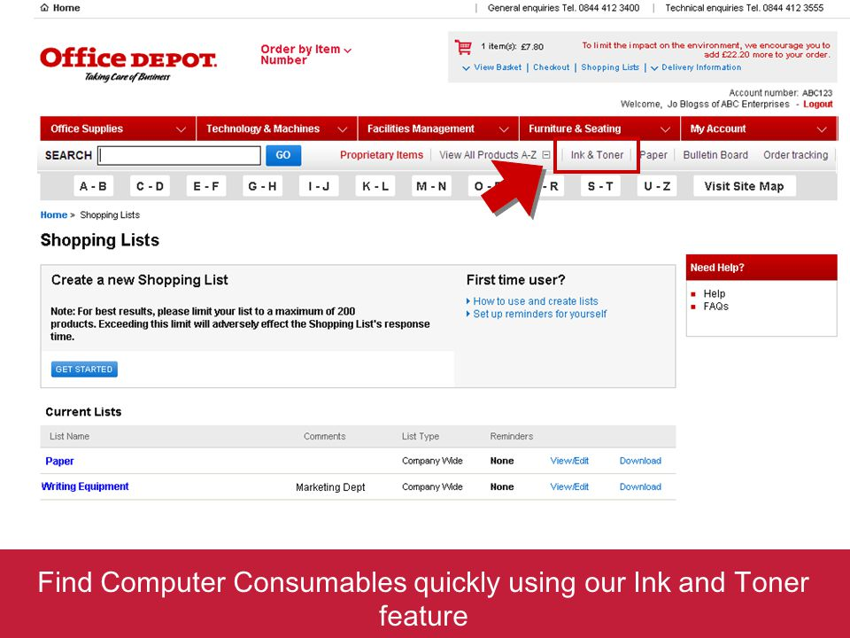 Find Computer Consumables quickly using our Ink and Toner feature