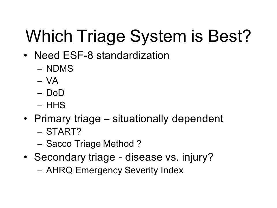 Which Triage System is Best.