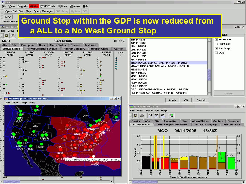 Ground Stop within the GDP is now reduced from a ALL to a No West Ground Stop