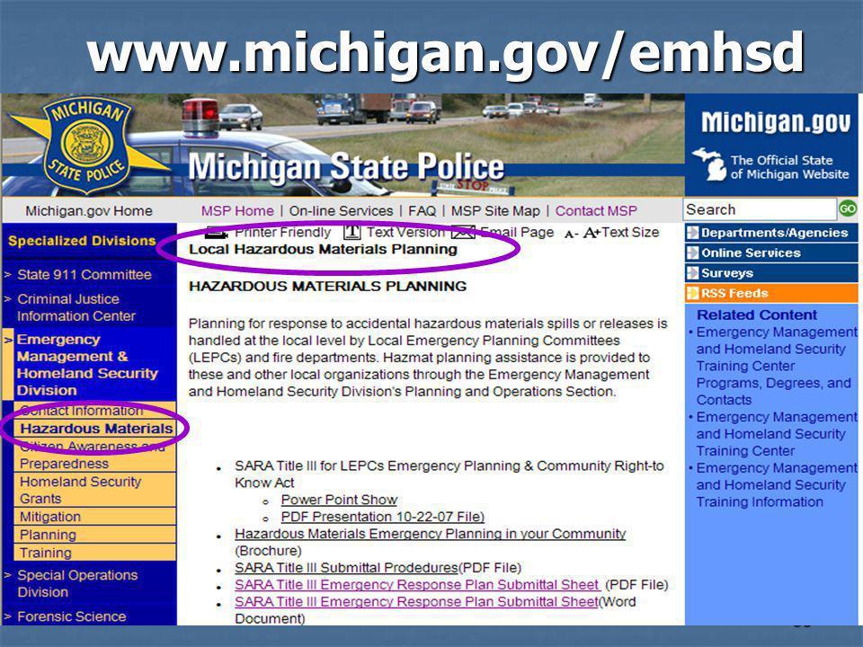 38 www.michigan.gov/emhsd