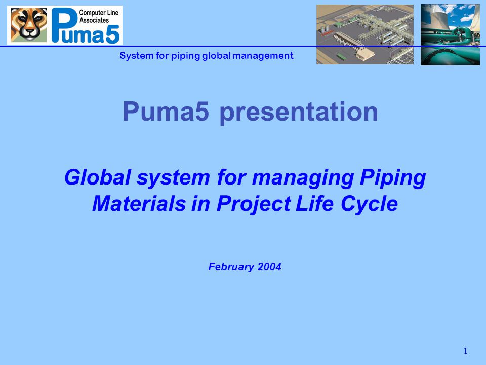 2 The Agenda Puma5 advantages Puma5 overview Puma5 modules