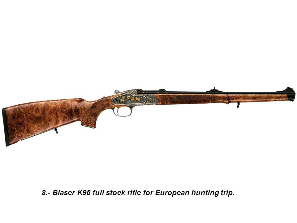 19.- Dumolin Herstal Pionner rifle for African big five hunting.