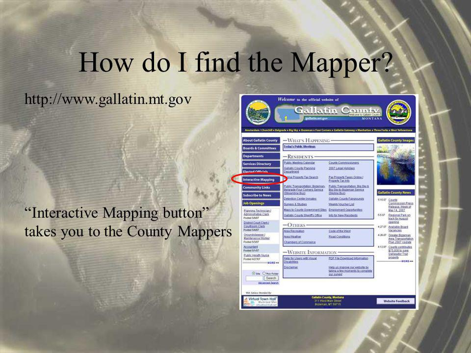 General Map Viewer: Our topic of discussion… Additional Map Viewers Click the thumbnail image…