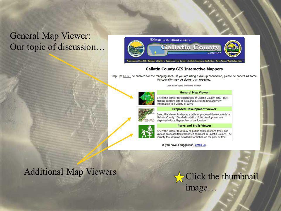 Panning The Map 1.Select the Pan tool.