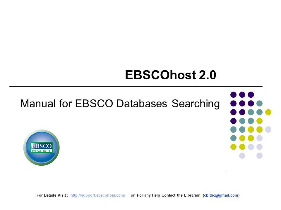 From the Publication Details page of most journals represented in the database you are searching, you can set up a Journal Alert, which will be kept in your personalized My EBSCOhost folder until you delete it.