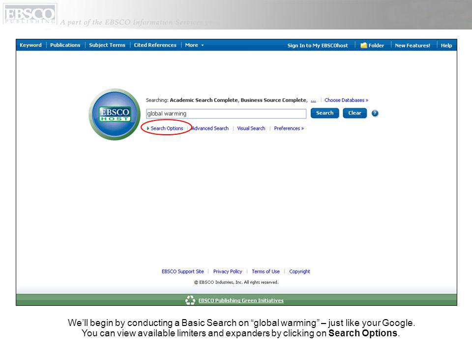 Welcome to the My EBSCOhost tutorial, which demonstrates how to set up and make the most of the free personalization (My EBSCOhost) folder, allowing users to extend the usage of EBSCOhost search results beyond their current session.