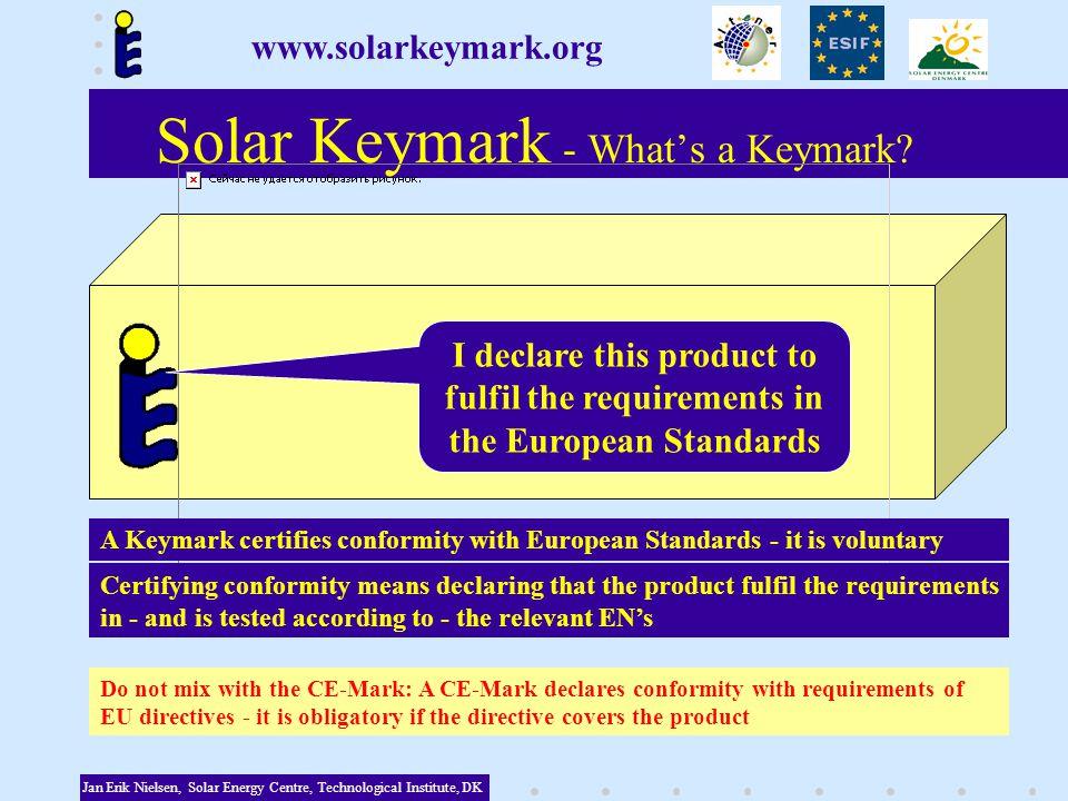 Solar Keymark - Whats a Keymark.
