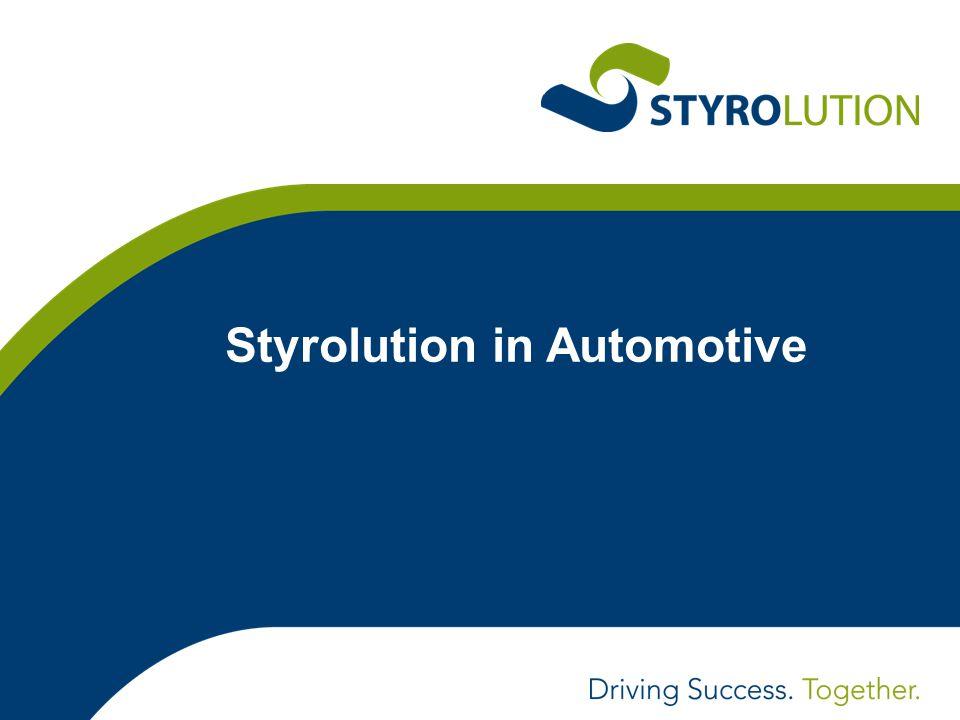 Name Vortragender Styrolution in Automotive