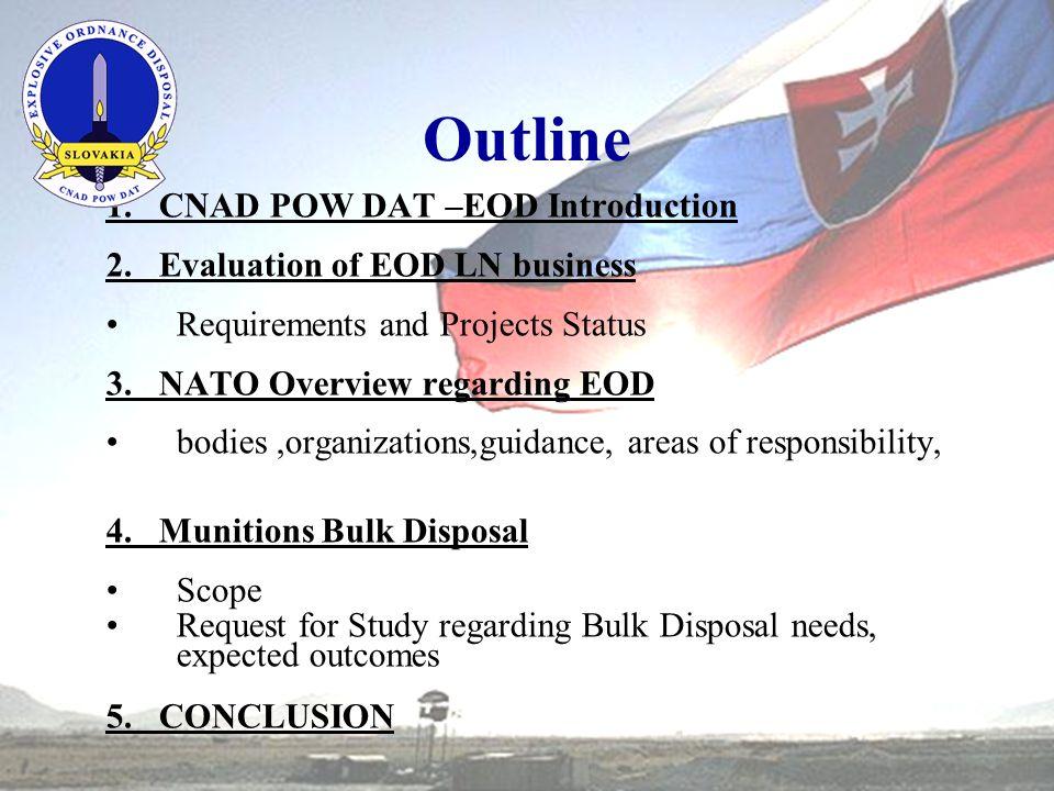 Outline 1.CNAD POW DAT –EOD Introduction 2.