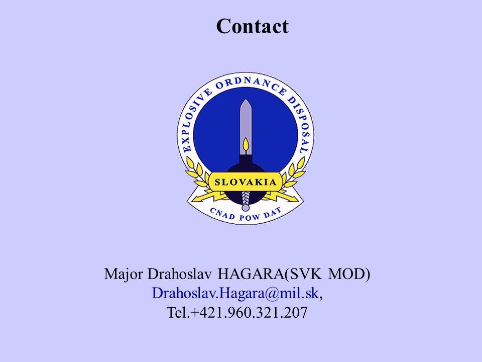 Contact Major Drahoslav HAGARA(SVK MOD) Drahoslav.Hagara@mil.sk, Tel.+421.960.321.207