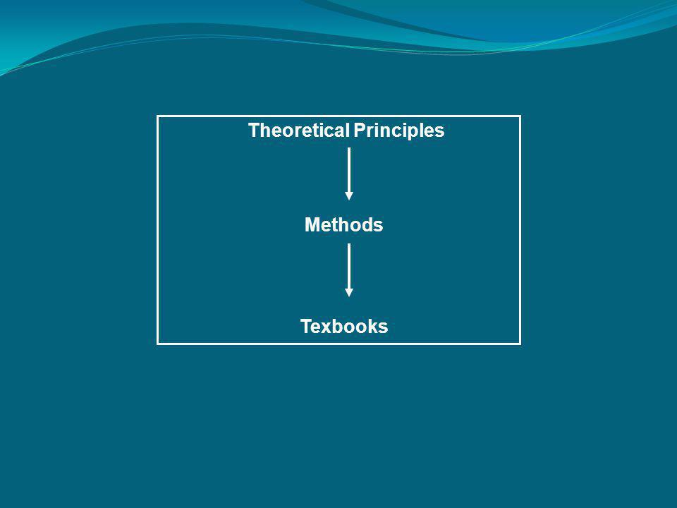 Theoretical Principles Methods Texbooks