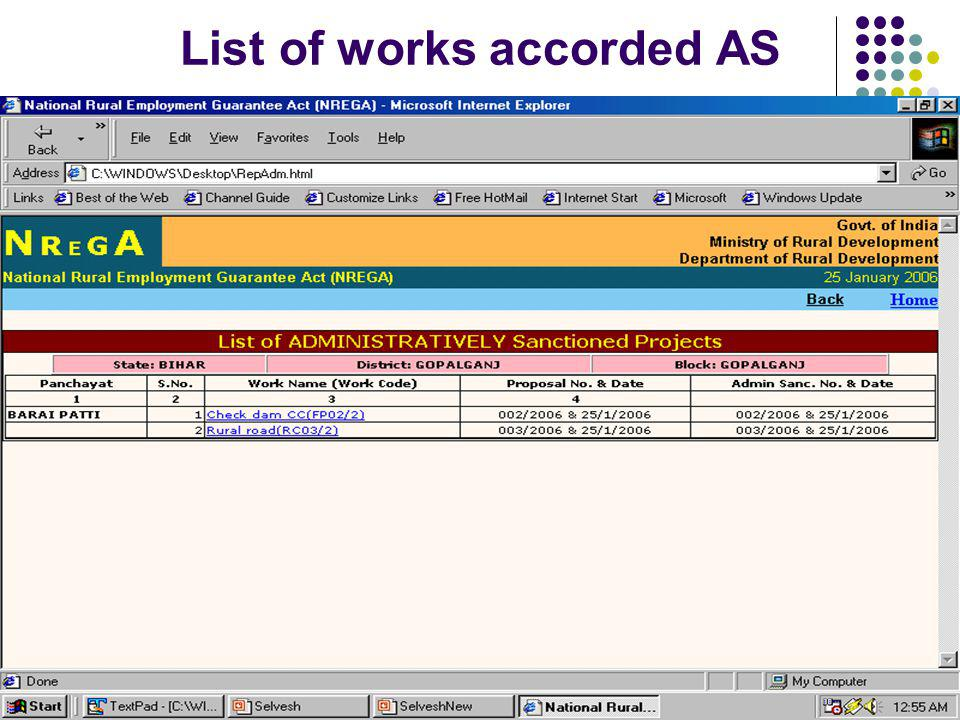 List of works accorded AS