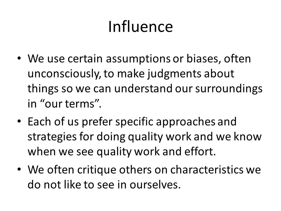 Biases About Written Responses ISSUES: Grammar, spelling Organization Failure to follow directions Concise writing; response length Missing words Descriptive writing INTERPRETATIONS: Careless, lazy Poorly educated Does not want to demonstrate limited knowledge Limited evidence Little to say – covering up lack of knowledge