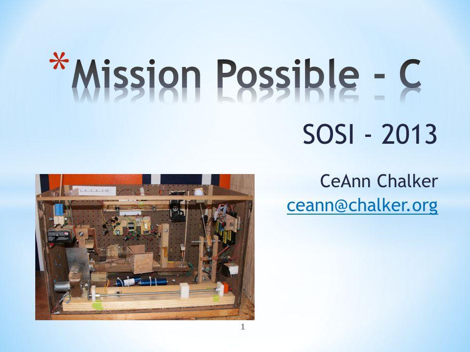 SOSI - 2013 CeAnn Chalker ceann@chalker.org 1