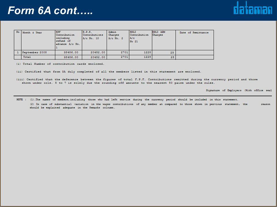 Form 6A cont…..