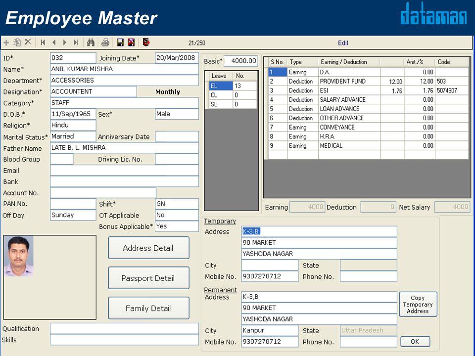 Employee Master