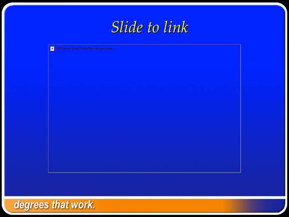 Slide to link