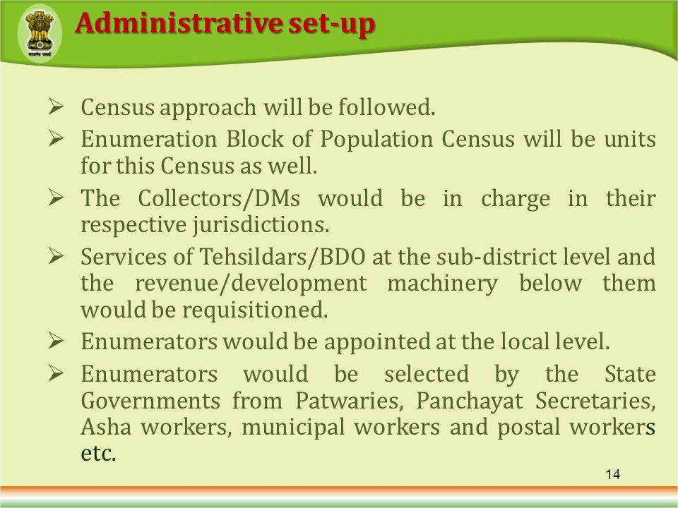 Census approach will be followed.