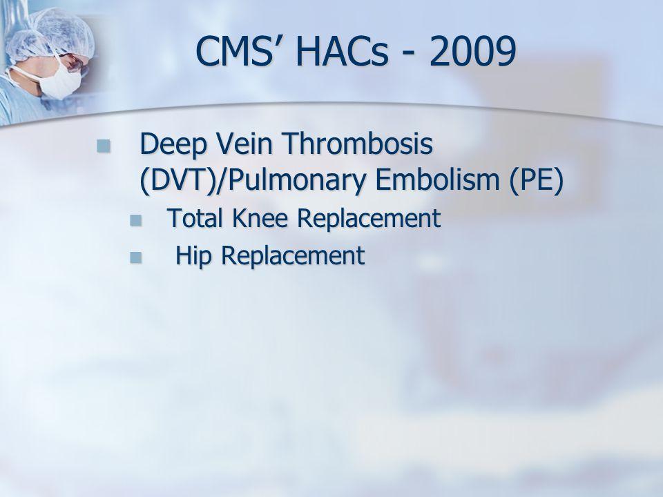 Deep Vein Thrombosis (DVT)/Pulmonary Embolism (PE) Deep Vein Thrombosis (DVT)/Pulmonary Embolism (PE) Total Knee Replacement Total Knee Replacement Hi