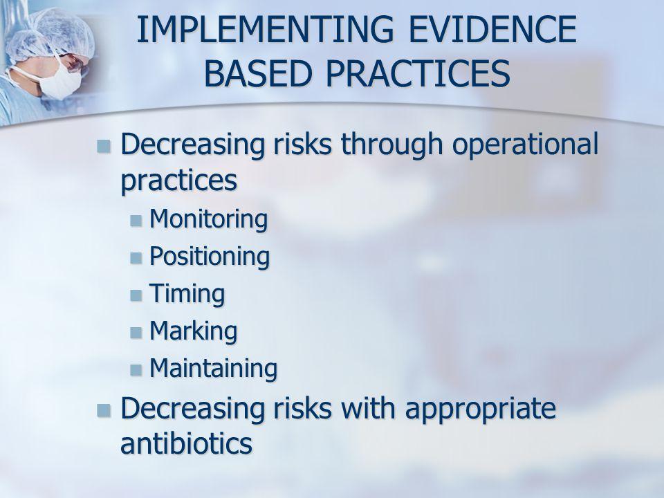 Decreasing risks through operational practices Decreasing risks through operational practices Monitoring Monitoring Positioning Positioning Timing Tim