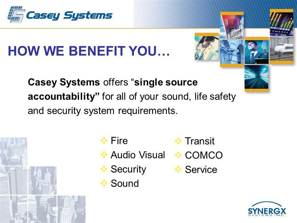 SOUND COMMUNICATION SOLUTIONS Casey Systems is one of the largest professional sound and communication system solution providers in the Tri-State area.