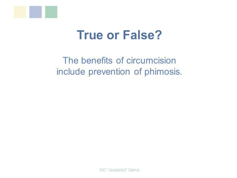 Male Circumcision Jeopardy! MC