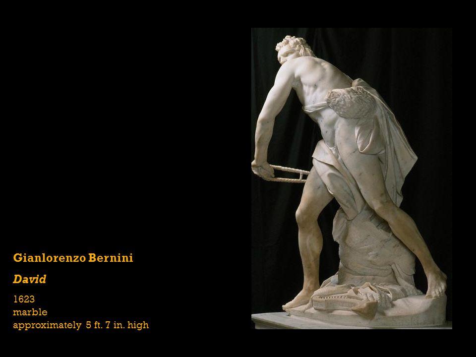 Gianlorenzo Bernini David 1623 marble approximately 5 ft. 7 in. high