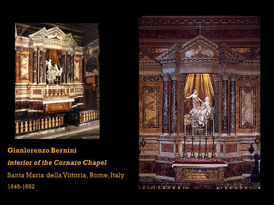 Gianlorenzo Bernini interior of the Cornaro Chapel Santa Maria della Vittoria, Rome, Italy 1645-1652