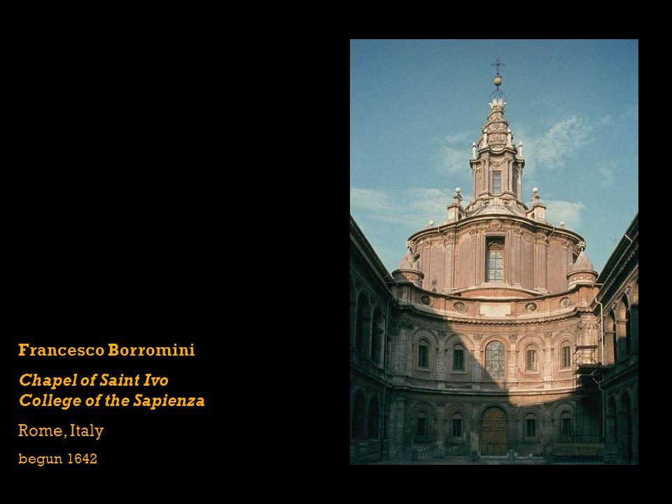 Francesco Borromini Chapel of Saint Ivo College of the Sapienza Rome, Italy begun 1642